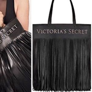 Victoria's Secret Large Vinyl Fringe Tote Bag